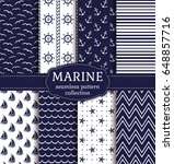 set of marine and nautical... | Shutterstock .eps vector #648857716