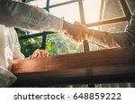 business people handshaking.... | Shutterstock . vector #648859222