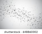 abstract polygonal space... | Shutterstock .eps vector #648860302