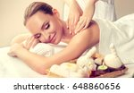 massage and body  care. spa... | Shutterstock . vector #648860656