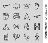 two icons set. set of 16 two... | Shutterstock .eps vector #648862648