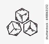 ice cube icon. frozen water.... | Shutterstock .eps vector #648863152