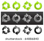 set of different arrows circles ... | Shutterstock .eps vector #64886840