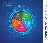 vector infographic of...   Shutterstock .eps vector #648874312