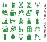 glass icons set. set of 25... | Shutterstock .eps vector #648881956