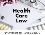 health care law health benefits ... | Shutterstock . vector #648883072