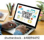 content is king seo search...   Shutterstock . vector #648896692