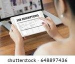 job descriptions human... | Shutterstock . vector #648897436