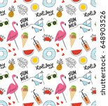 summer seamless background in... | Shutterstock .eps vector #648903526