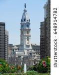 philadelphia city hall  built... | Shutterstock . vector #648914782
