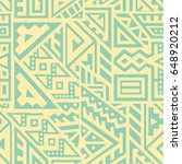 creative ethnic style square...   Shutterstock .eps vector #648920212