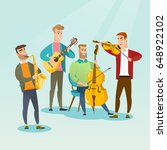 band of musicians playing... | Shutterstock .eps vector #648922102