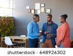 three young african office... | Shutterstock . vector #648926302