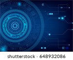 futuristic and abstract blue... | Shutterstock .eps vector #648932086