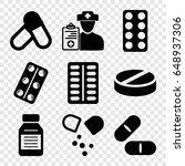 prescription icons set. set of...   Shutterstock .eps vector #648937306