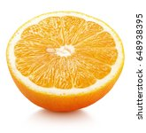 ripe half of orange citrus... | Shutterstock . vector #648938395