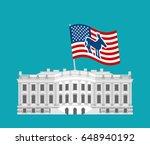 democrat win white house. flag... | Shutterstock . vector #648940192
