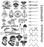 pirates design elements.... | Shutterstock .eps vector #648944092