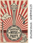 country music party poster... | Shutterstock .eps vector #648944125