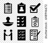 agreement icons set. set of 9...   Shutterstock .eps vector #648946672