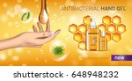honey flavor antibacterial hand ... | Shutterstock .eps vector #648948232