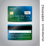 realistic detailed credit cards ... | Shutterstock .eps vector #648949462
