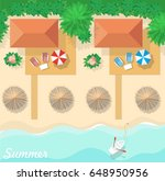 aerial view of summer beach in... | Shutterstock .eps vector #648950956