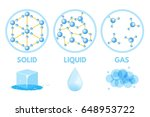 matter in different states. gas ... | Shutterstock .eps vector #648953722