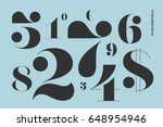 font of numbers in classical... | Shutterstock .eps vector #648954946