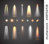 different light effect elements.... | Shutterstock .eps vector #648956938