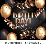 happy birthday background with... | Shutterstock .eps vector #648960352
