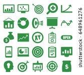 marketing icons set. set of 25...   Shutterstock .eps vector #648961276