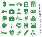 hospital icons set. set of 25...   Shutterstock .eps vector #648962626