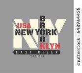 new york  brooklyn  usa... | Shutterstock .eps vector #648964438