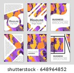 abstract vector layout... | Shutterstock .eps vector #648964852