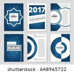 abstract vector layout... | Shutterstock .eps vector #648965722