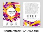 abstract vector layout... | Shutterstock .eps vector #648966508
