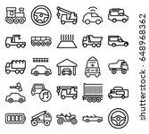 auto icons set. set of 25 auto... | Shutterstock .eps vector #648968362
