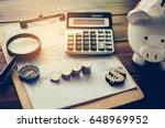 business financial planning... | Shutterstock . vector #648969952