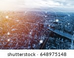 double exposure city scape and... | Shutterstock . vector #648975148