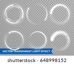 light circles of shining sun or ... | Shutterstock .eps vector #648998152