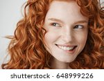 close up of beautiful girl with ... | Shutterstock . vector #648999226