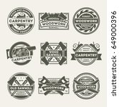 woodwork company vintage... | Shutterstock .eps vector #649000396