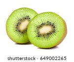kiwi fruit isolated on the...   Shutterstock . vector #649002265