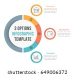 3 options infographic template... | Shutterstock .eps vector #649006372