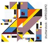 trendy geometric elements... | Shutterstock .eps vector #649010692