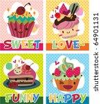 card cake | Shutterstock .eps vector #64901131