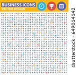 business icon set clean vector | Shutterstock .eps vector #649014142