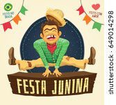 festa junina  brazilian june... | Shutterstock .eps vector #649014298