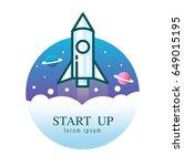 rocket launch icon. start up...   Shutterstock .eps vector #649015195